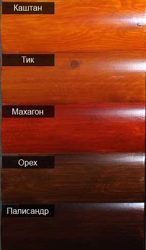 Цветовая схема домиков серии ДК (Производитель №1)